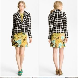 Tracy Reese | Ecru Tweed Wool Blend Blazer Checker